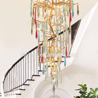 Contemporary Milky White Blown Glass Chandelier