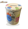 Round savings tin can money box with lock cute coin bank