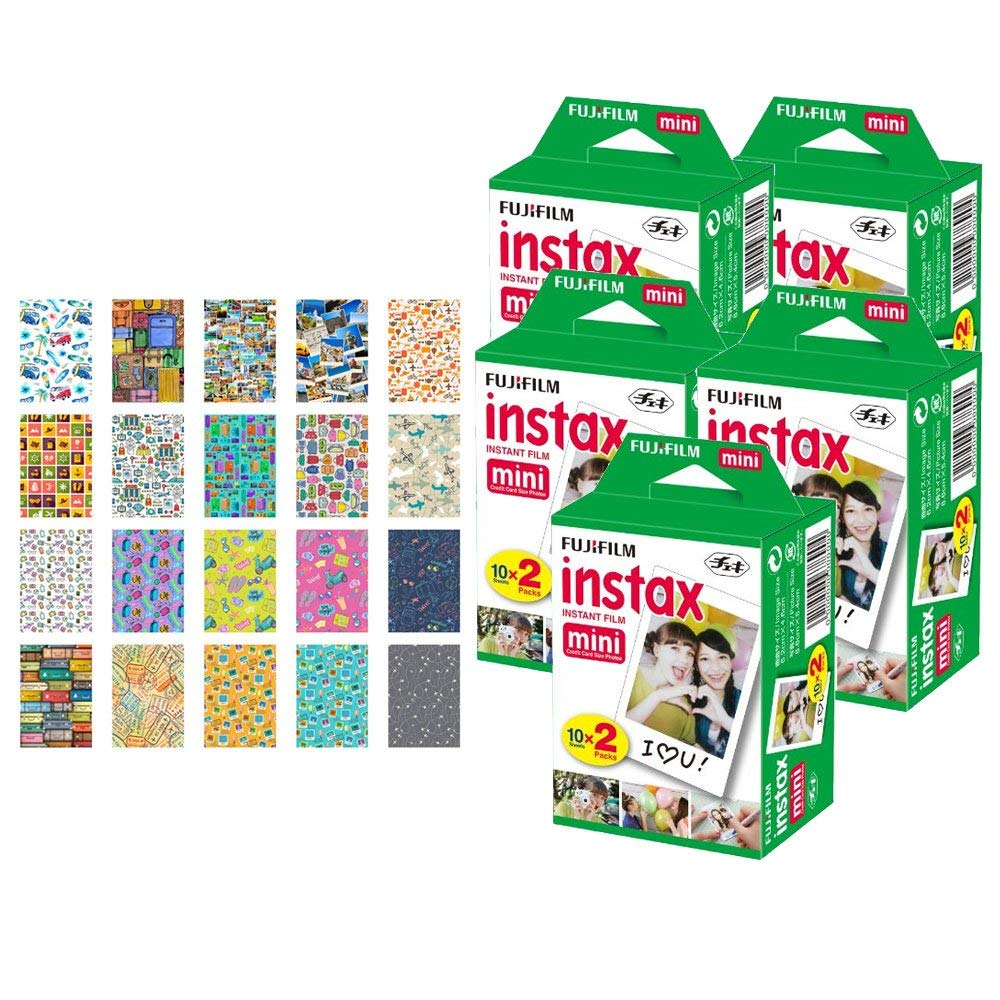 Cheap Instax Fuji Film Find Deals On Line At Fujifilm Paper Single Pack Get Quotations 5x Mini Instant 100 Exposures 20 Sticker Frames For