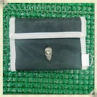 Trifold Plain Flat Clutch Bag Credit Card Holder Wallet Nylon Mens Wallet