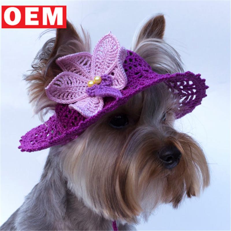 Ylm Custom Crochet Dog Visor Beanie Hats Pets Spring Sun Hats Dog's  Handmade Baseball Cap With Flowers - Buy Dog's Hand Baseball Cap With  Flowers,Pets
