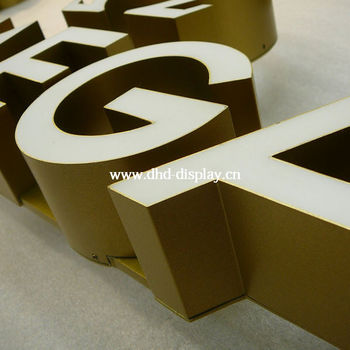 Metal sign letter aluminum led lighted letters buy for Where can i buy metal letters