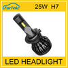 Best selling car accessories! H1 H7 car led headlight 3000lm 25W for auto car lights