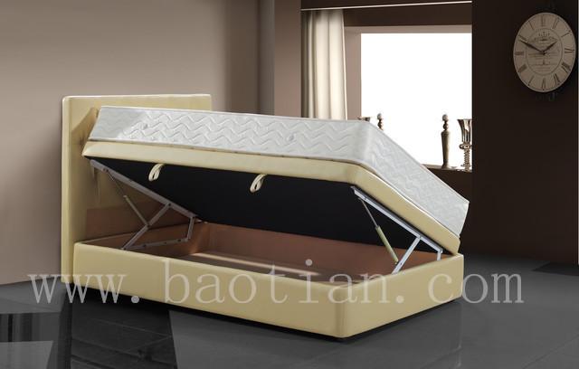 현대 침실 가구 스토리지 리프트 업 접이식 침대 프레임 가죽 ...