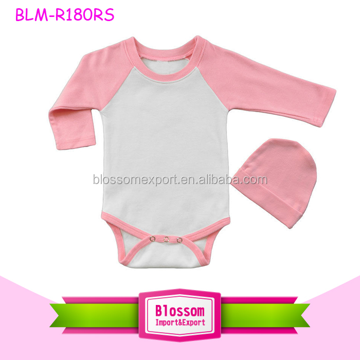 35d34bf35b92 0-2 Years 100% Cotton Material blank infant rompers raglan multiple color  sleeve plain