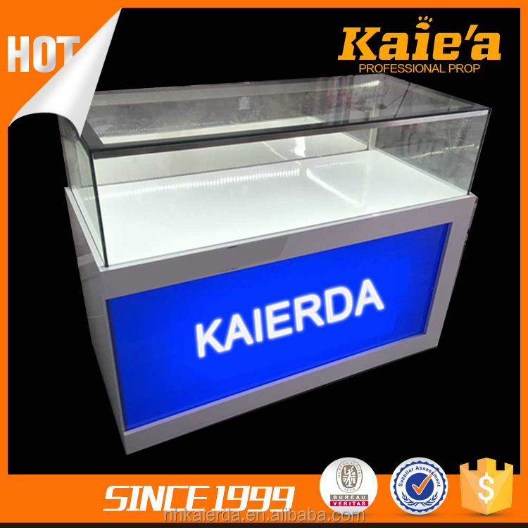 2017 New metal mobile counter design,mobile display counter