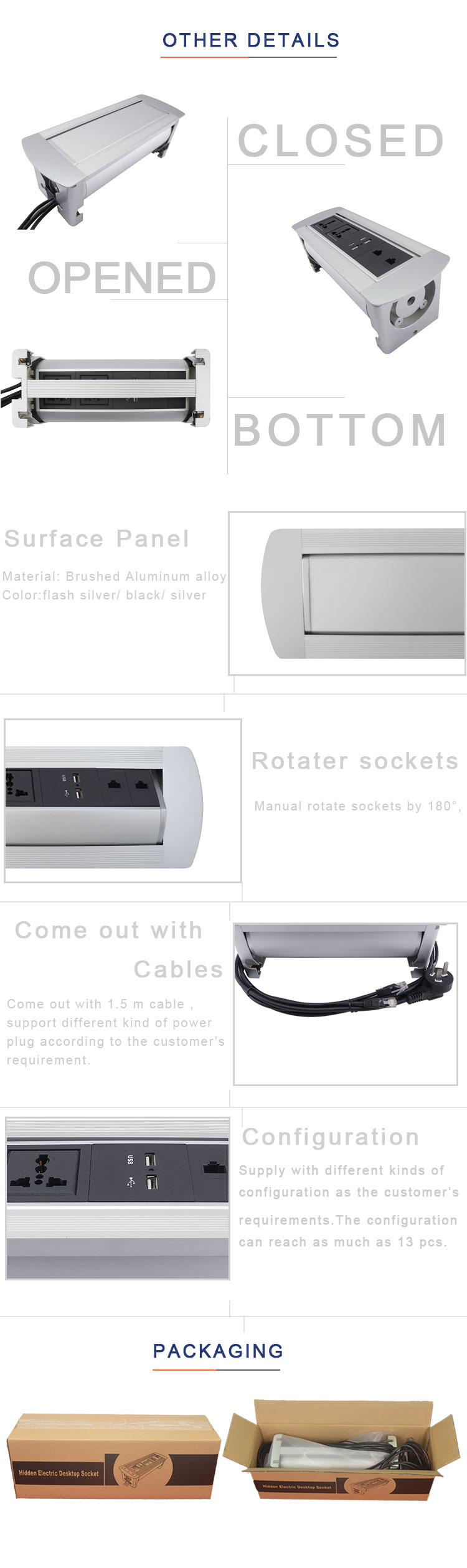 Boite Cache Prise Electrique table de conférence cachée rotative Électrique prise de courant  boîte/bureau téléphérique tournant cubby - buy prise Électrique de  table,prise