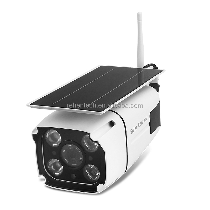 Rehent Waterproof 2.4G <strong>WifI</strong> 2.2W Battery Powered Solar CCTV <strong>WIFI</strong> Solar Camera