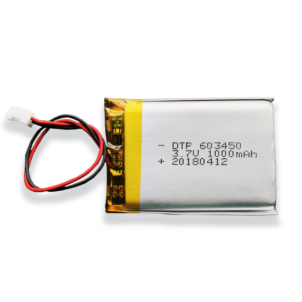 3.7v1000mah bluetooth batterij ion lithium terminal DTP603450