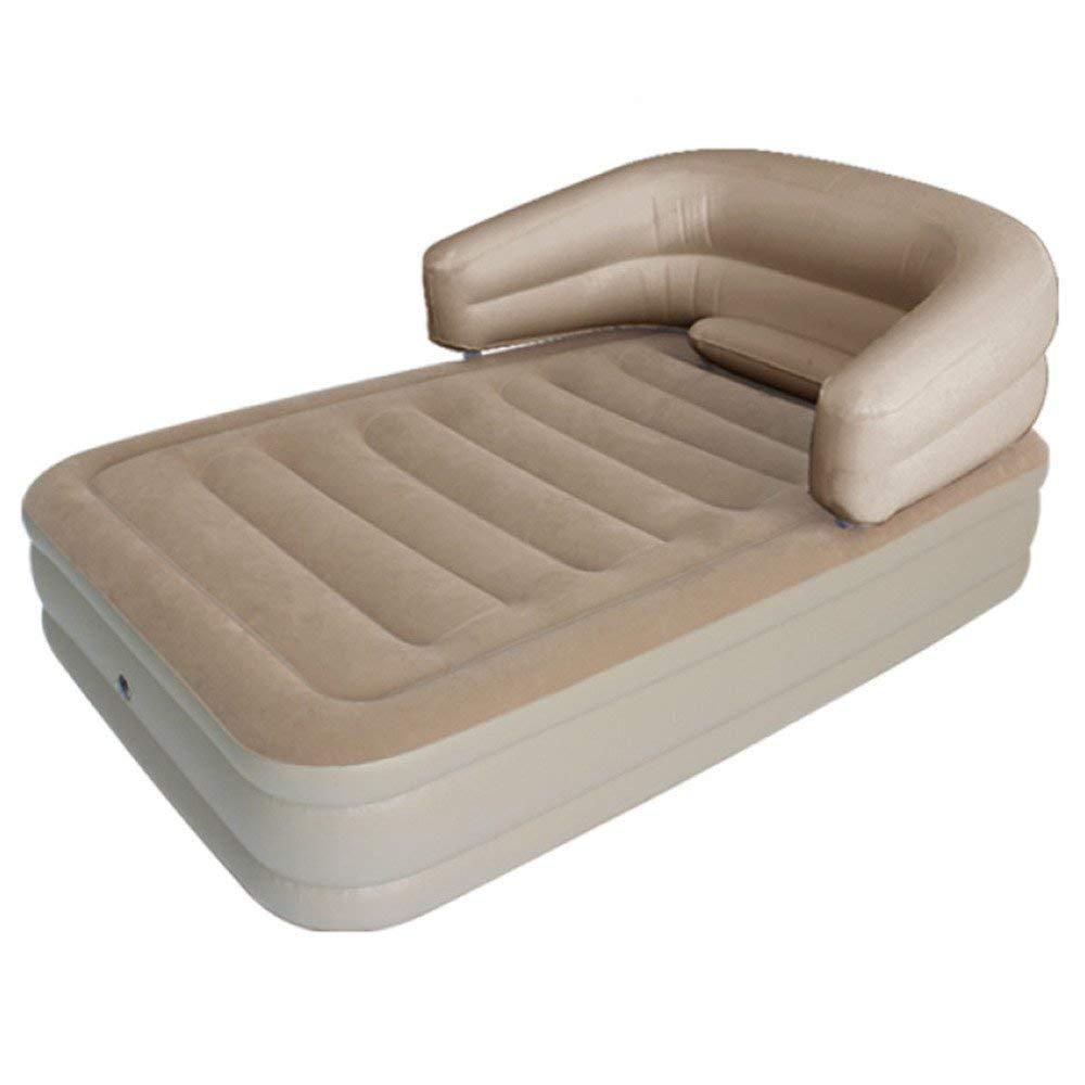 VGHJK Continental Inflatable Mattress Back Air Mattress Double Folding Portable Inflatable Bed Thick Flocked Waterproof Air Bed,C