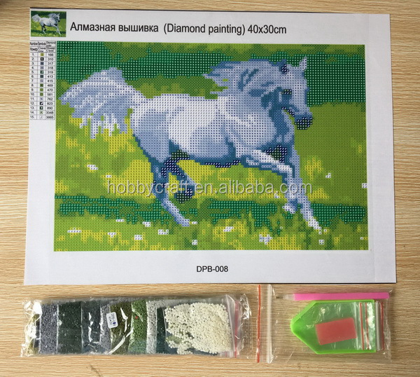 white horse for room decoration wholesale diamond painting