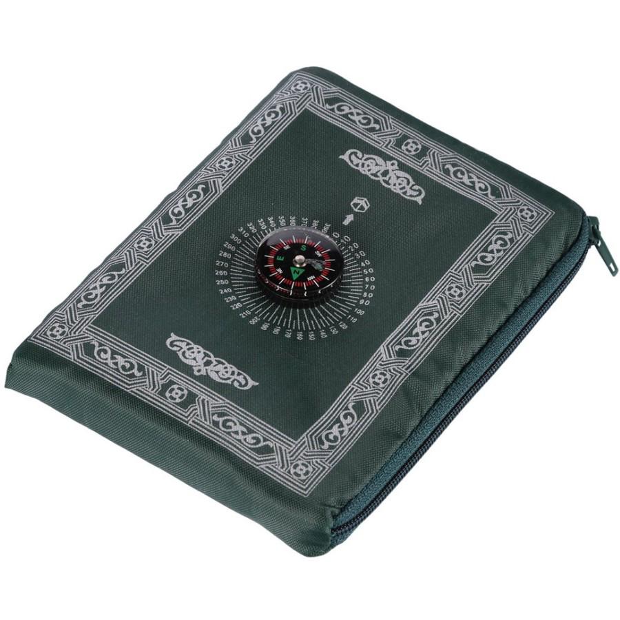 Bolso viagem tapete de oração muçulmano do tapete de oração com bússola