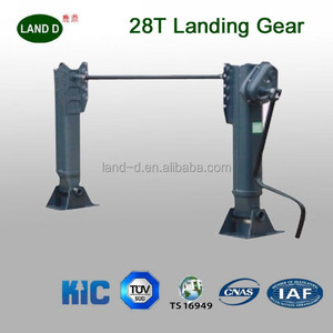 Outside 25ton 28ton semi trailer container jack stand