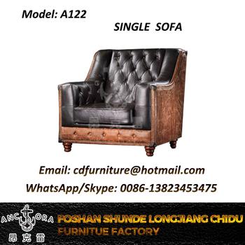 Excellent Vintage Leather Sofa Chair Single Seater Sofa Black Leather Couch A122 Buy Single Seater Sofa Aviator Vintage Single Seater Sofa Black Leather Couch Creativecarmelina Interior Chair Design Creativecarmelinacom