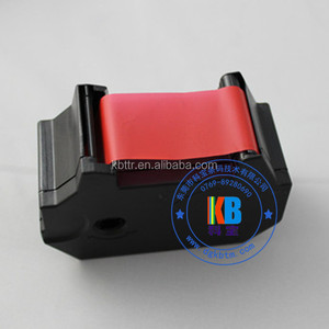 Fluorescent red color ribbon compatible T1000 thermal ink cassette tape
