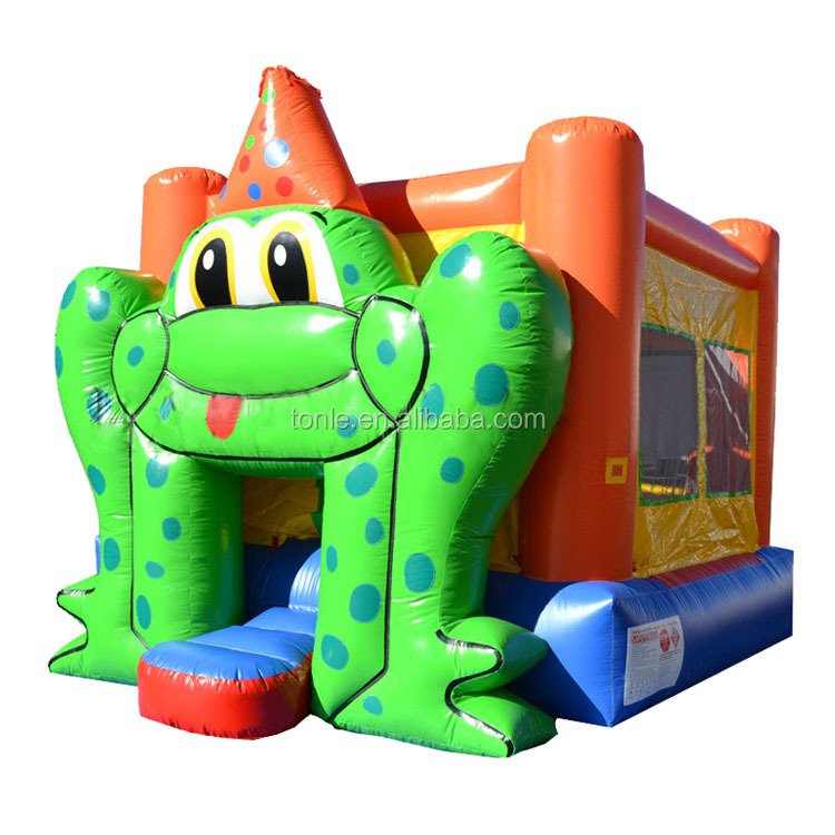 Commercial Frog Bounce Housecheap Inflatable Moonwalkinflatable