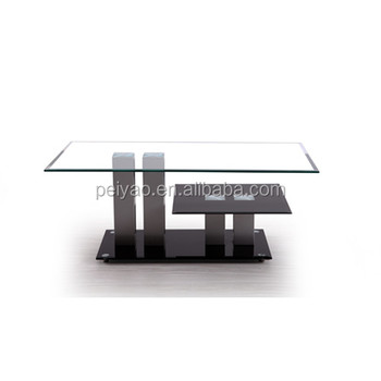 Moderne A 2 Niveaux Tables Basses En Verre Et Des Tables D Extremite Salon Vitrine Conception De Table Basse Buy Table Basse Moderne Tables