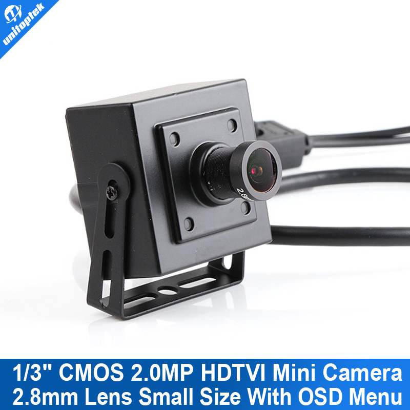 HD TVI Camera Mini Size 2.8mm Lens UTC HD-TVI CCTV Camera OSD Menu 2.0MP TVI Camera