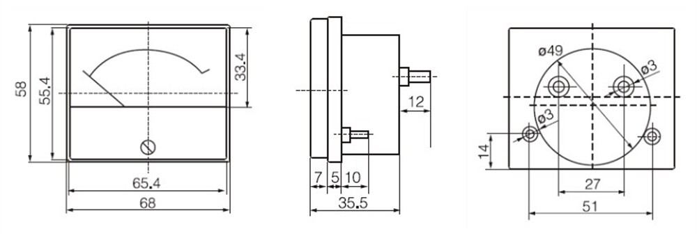 Nhà Máy Bán Buôn Hn-85 Analog 0-30a Ac/Dc Ampe Kế Và Dv/Av Vôn Kế Bảng Điều Khiển Tương Tự