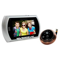 "HD 4.3""TFT-LCD recordable digital video peephole door viewer with dingdong doorbell"