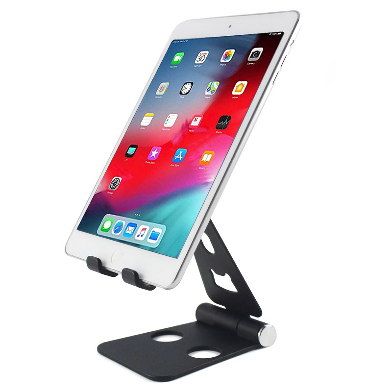 Silver metal multiangle adjustable swivel tablet stand for ipad mini air with bottle opener