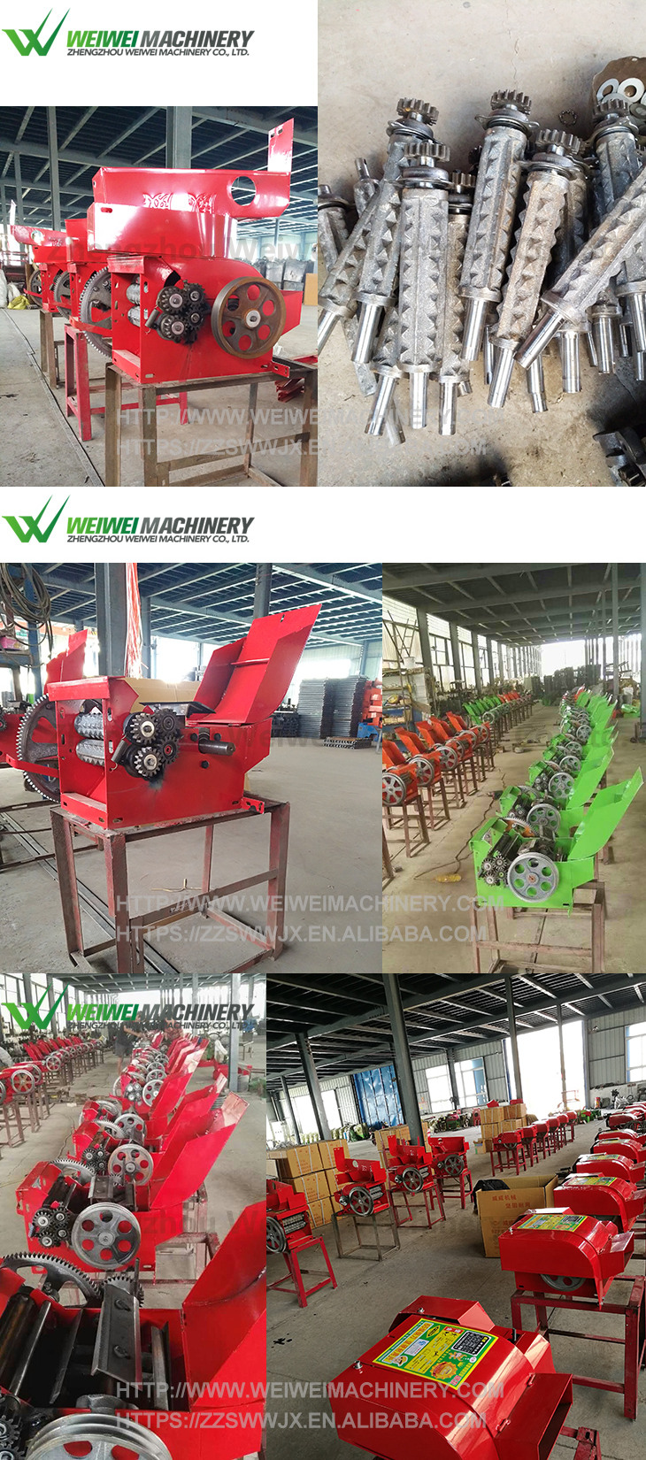 Mini cow feed grass cutter mechanical feed processing fresh silage maker