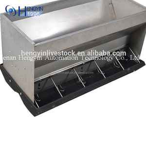 Wholesale stainless steel automatic pig feeder poultry feeding troughs for pig