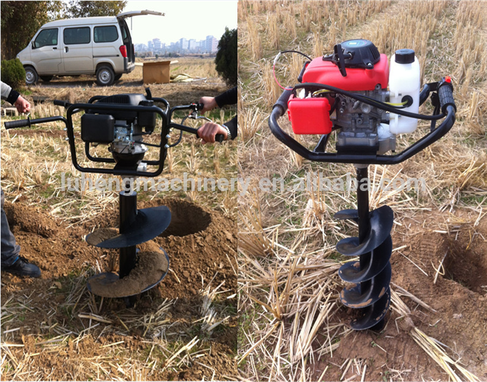 New Design 2 Stroke Gasoline Handheld Gasoline Ice Drill /Manual Earth Auger/Ground Drill - LUHENG