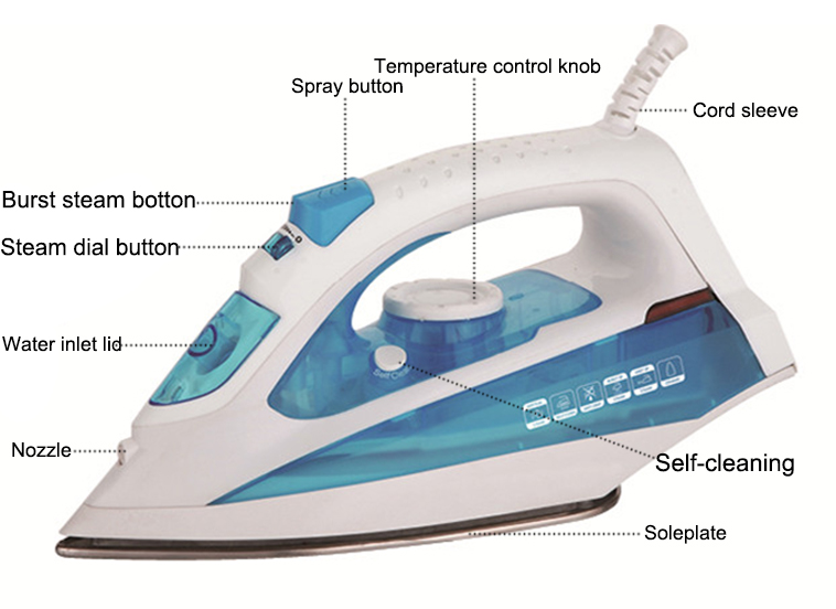 2019 Full function electric dry spray vertical steam iron