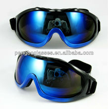 Motorcycle riding goggles with double color on frame
