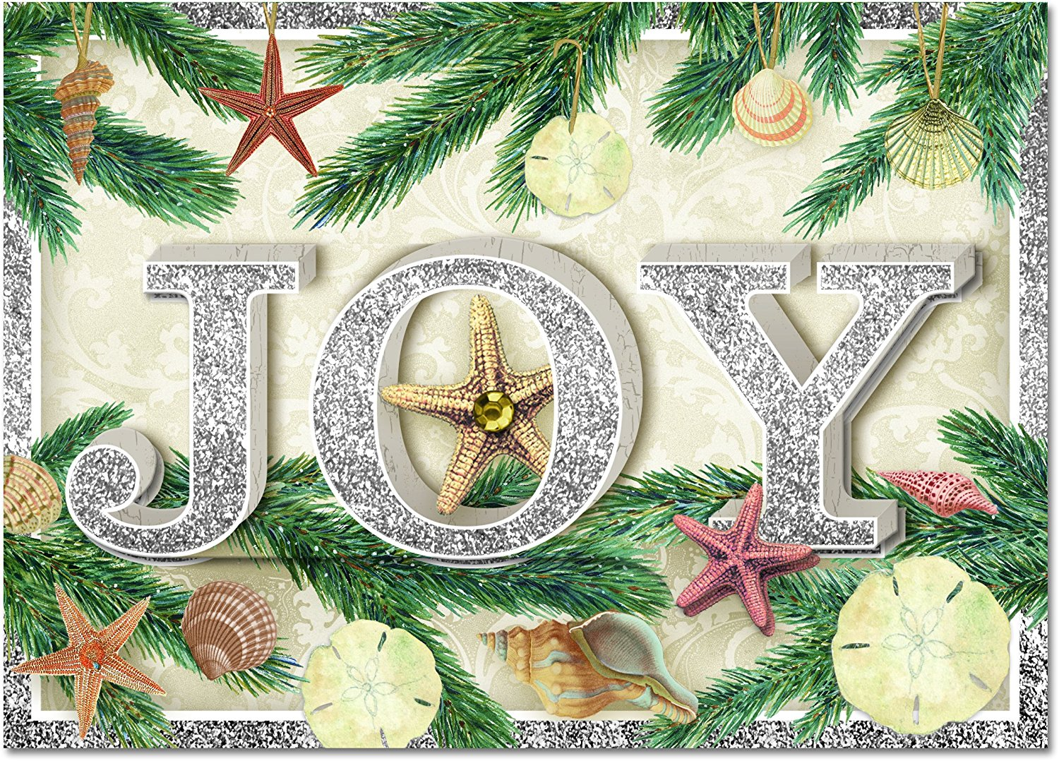 Buy Punch Studio #94998 Christmas Greeting Cards Golden Holiday ...
