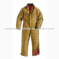 fire resistant cotton workwear coveralls for men/100 cotton yellow coveralls/mens work wear 100% cotton coverall