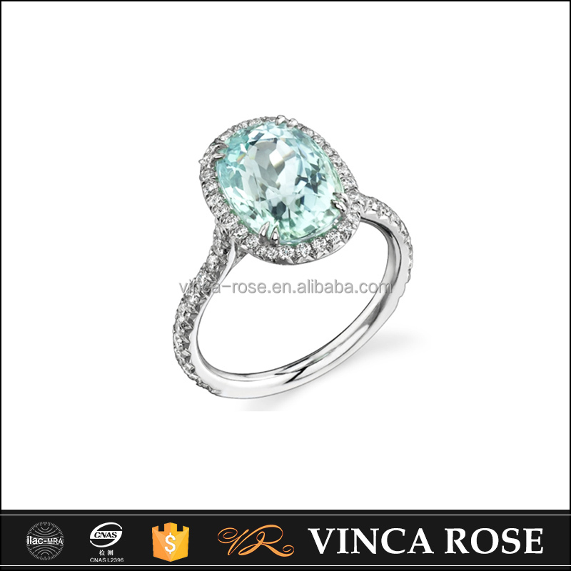2016 Top Selling Simplicity And Clarity Aquamarine Gold Plated ...