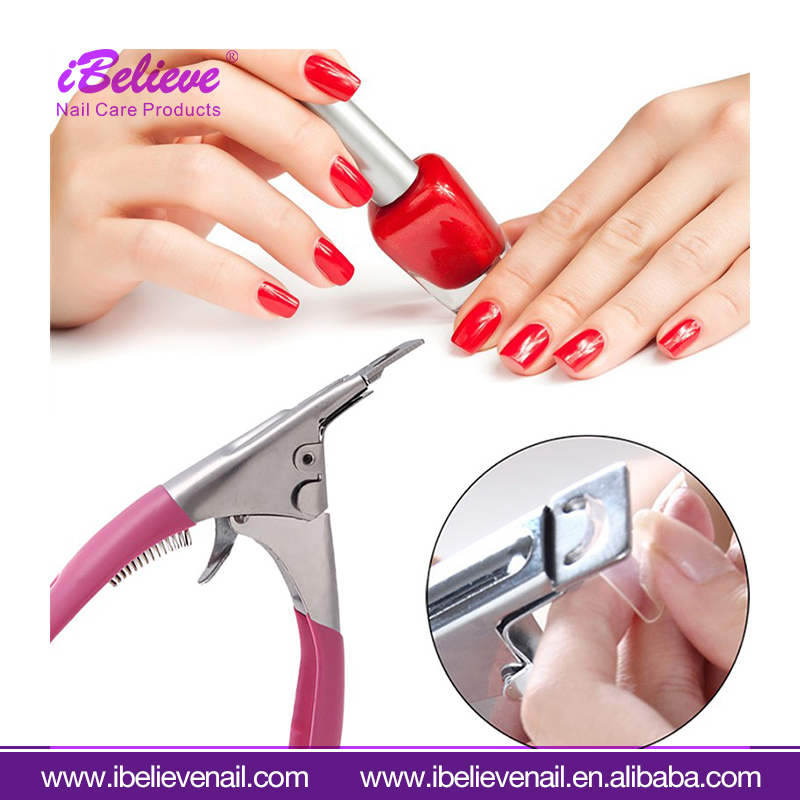 2017 Hot Selling Stainless Steel Manicure Acrylic UV Gel Fake Tips Nail Art Clipper Cutter Nipper For Tips Edge Cutter