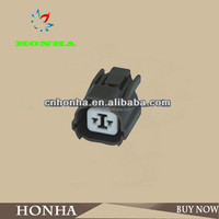 DJ7028-2-21 High Quality PA66 2 pin female black electrical plastic low voltage auto Wiring Harness connector