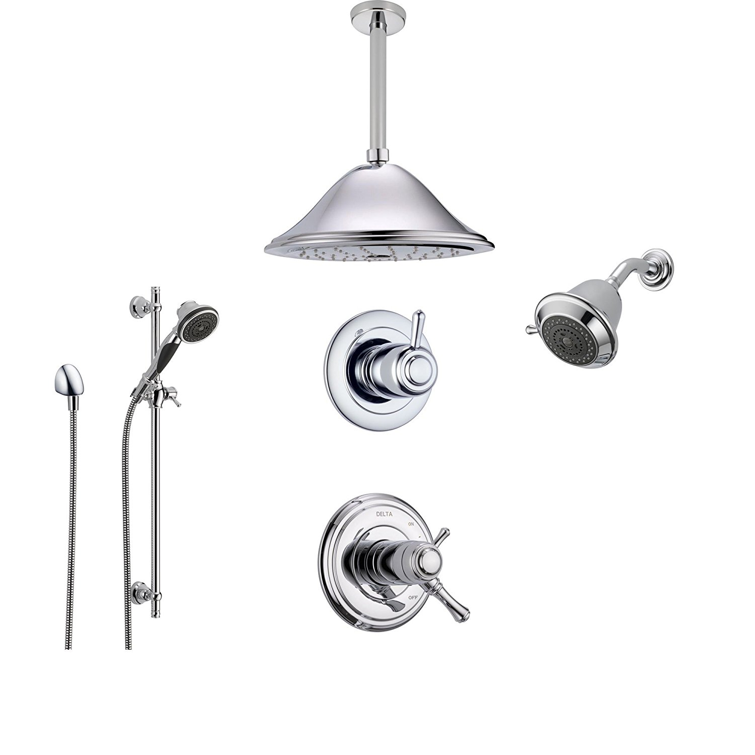 Buy Delta Cassidy Chrome Shower System With Thermostatic
