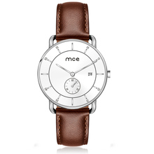 Modern Fashion Water Resistant Oem 5atm Leather Crystal Glass 5 Atm Sapphire Stainless Steel Quartz Lady Mens Watch