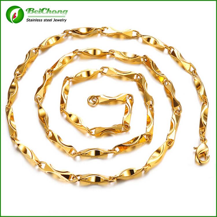 Cadena De Oro Stainless Steel Dubai New Gold Chain Design