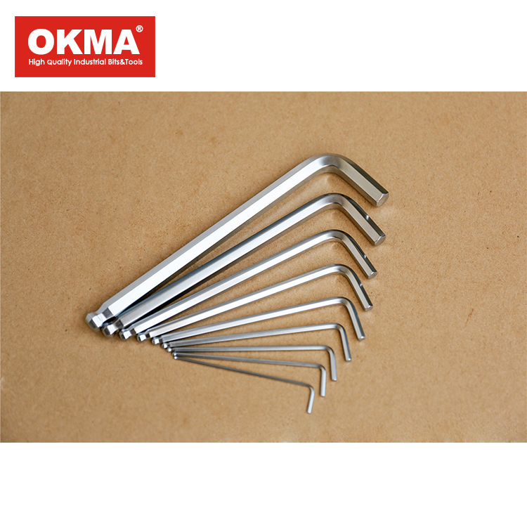 Hot selling 9-pieces lengthened ball head hex key wrench set