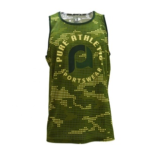 Custom quick dry fit fitness mens tank tops sports gym clothes jogging running singlet