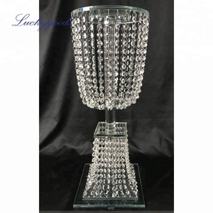 LDJ951 customized crystal flower stand centerpiece flower stand wedding crystal on sale