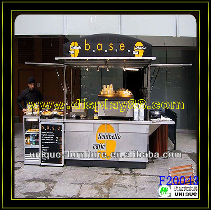 Full new and fashion outdoor food kiosk for sale/outdoor snack and beverage kiosk/wooden retail food kiosk