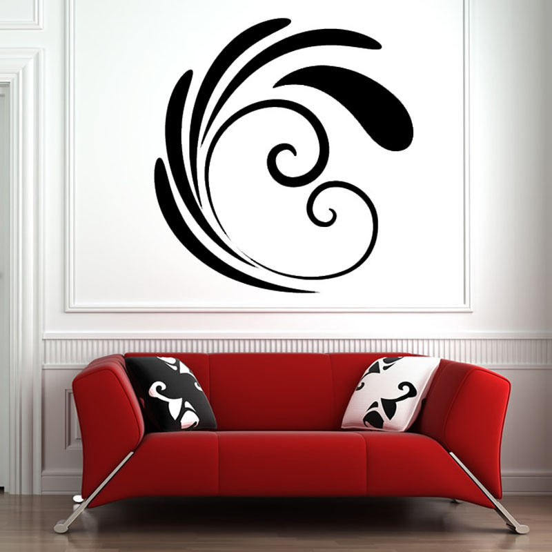 High Quality DIY Removable Vinyl Art Simple Flower Pattern Living Room Home Decor Wall Sticker