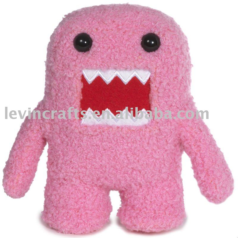 stuffed plush valentines toy pink domo
