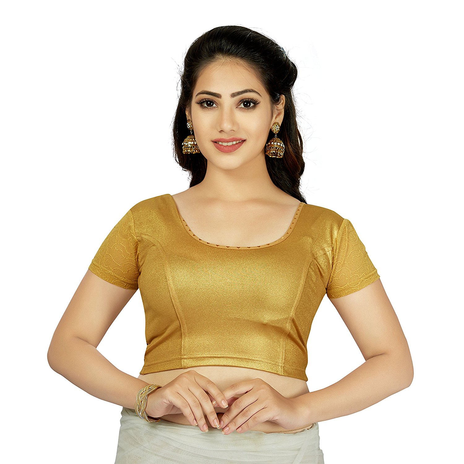 TrendyFashionMall Women's Trendy Strechable Short Sleeve Mutli Style Blouses Crop Top Collection!