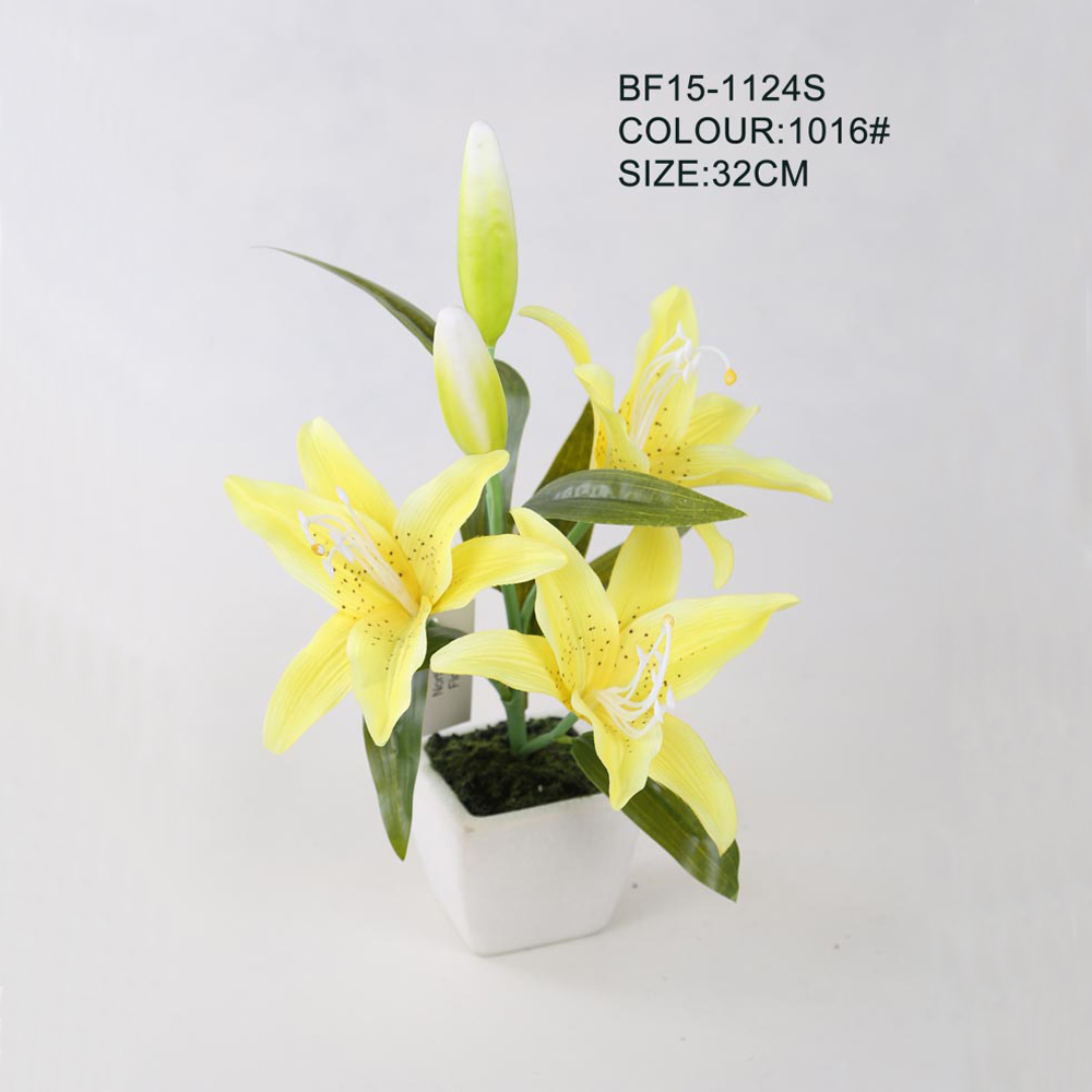 Yellow Fabric Water Lilyartificial Lily Manufacturer Buy Cheap