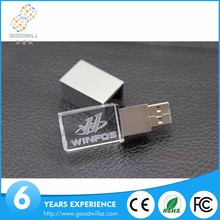 4GB 8GB Crystal Rectangle USB PEN Drive,Cyrstal USB Flash Drive with free laser logo