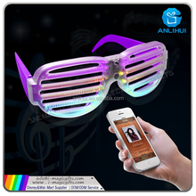 LED Rainbow Rave Glasses Light Up Flashing for Concert