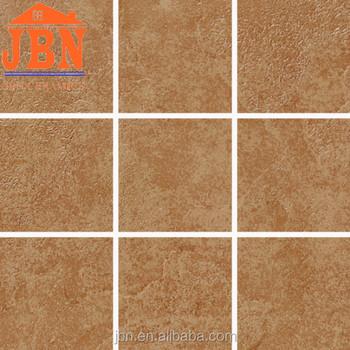 Darkly Brown Square Matt Finish Glazed Ceramic Floor Tile - Click together tile ceramic floor tiles