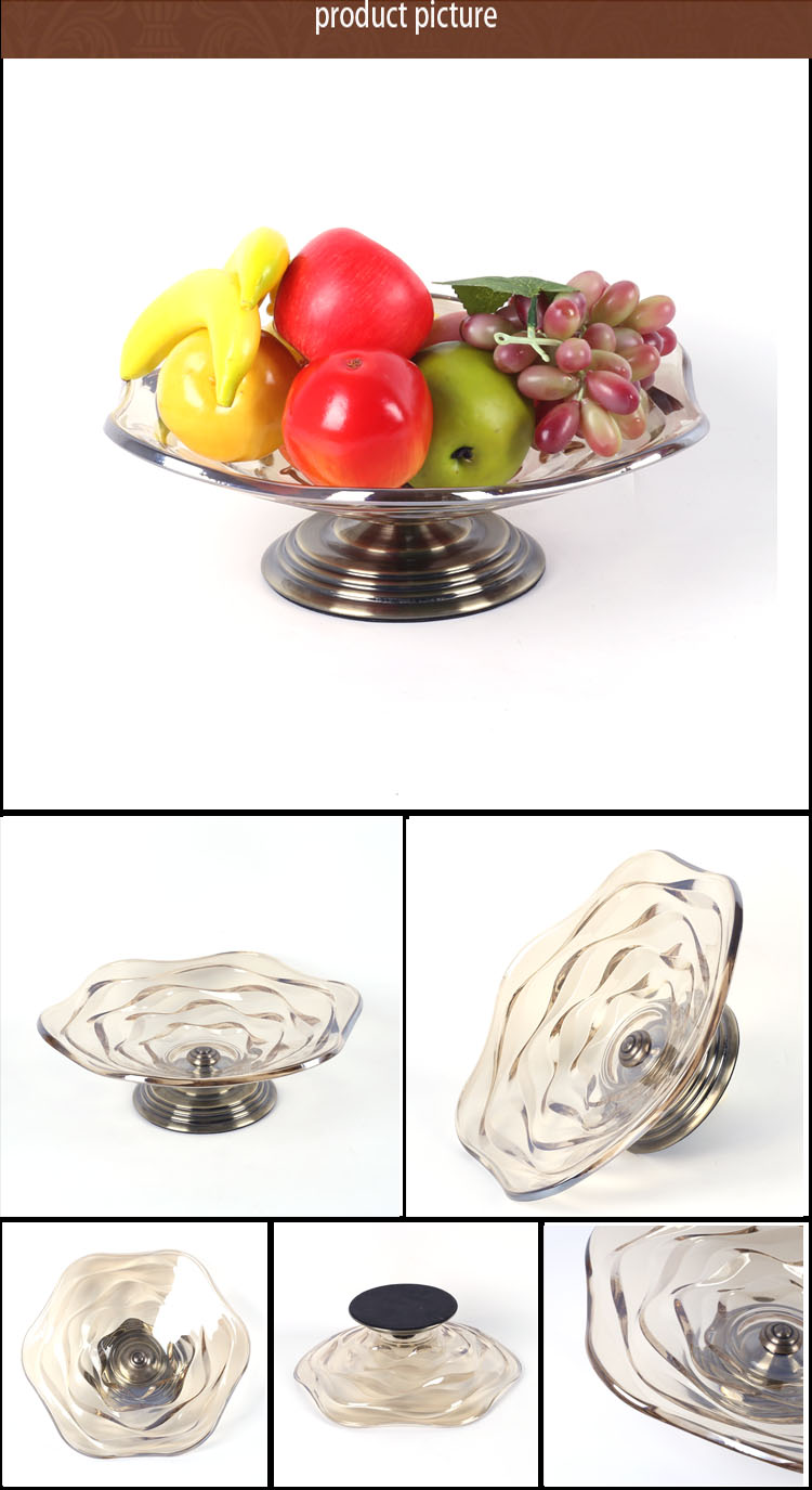 NO P044 wholesale glass dry fruit plate in living room employ